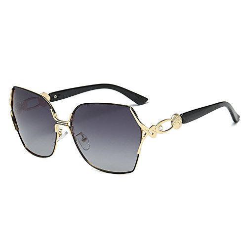 grey Eyewear Luxury Fashion Lens UV Black Women Sunglasses Sunglasses Frame Driving Squar Frame Oversize Sunglasses Metal Eyeglasses Gold Protection qwOTHgEE