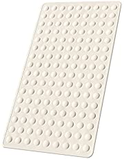 Yolife Non-Slip Bathtub Mat, Rubber Anti Skid Rubber Shower Tub Mat, Safety and Machine Washable Protection Bathtub Mat with Suction Cups, XL Tub Mat 28x16 inches (Beige)