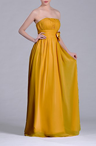 Long Chiffon Strapless Adorona Women's Sunbeam Line A Dress n6w5Xq5