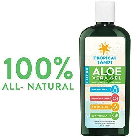 All Natural Biodegradable Aloe Vera Gel by Mexitan - 8 fl Oz - 100 ...