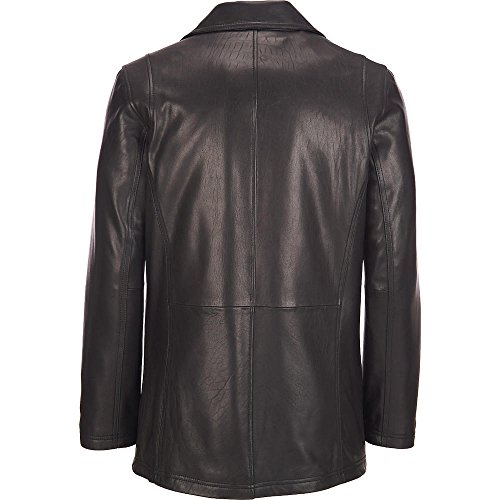skin Leather Classic Genuine Hipster Leather Jacket/Coat for Men (X-Large) ()