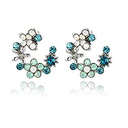 Rhinestone Crystal Wreath Stud Earrings