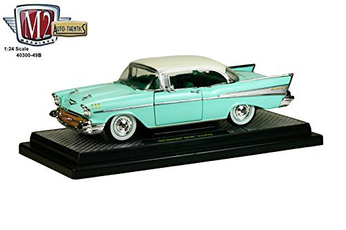 1957-chevrolet-bel-air-hardtop-surf-green-and-india-ivory-1-24-by-m2-machines-40300-49b