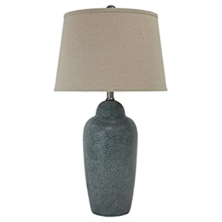Signature Design by Ashley - Saher Ceramic Table Lamp - Green