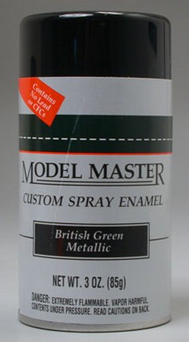 - Testors Model Master Automotive Enamel British Green Metallic Spray