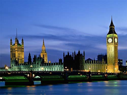 Home Comforts Framed Art for Your Wall London Skyline England Big Ben UK Brittain Beauty 10 x 13 ()