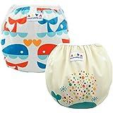 ALVABABY Baby Swim Diapers 2pcs Reuseable &...