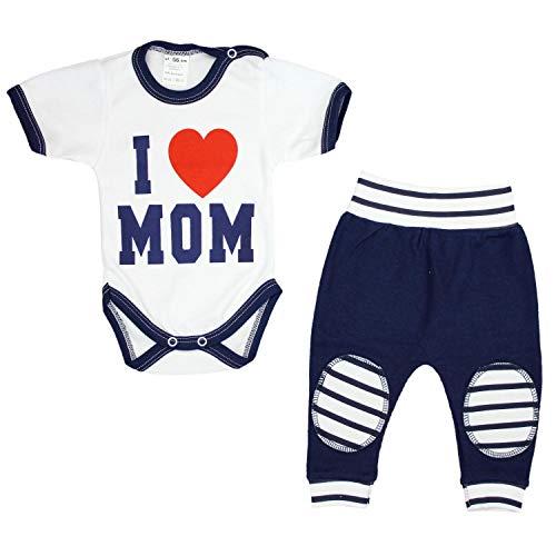TupTam Uniseks Babykleding Set met Slogan 2-delig