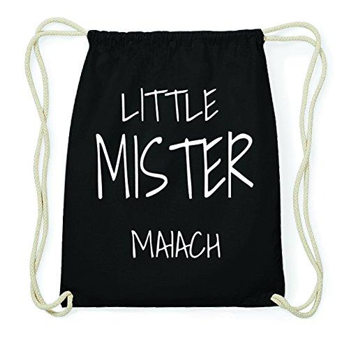 JOllify MAIACH Hipster Turnbeutel Tasche Rucksack aus Baumwolle - Farbe: schwarz Design: Little Mister