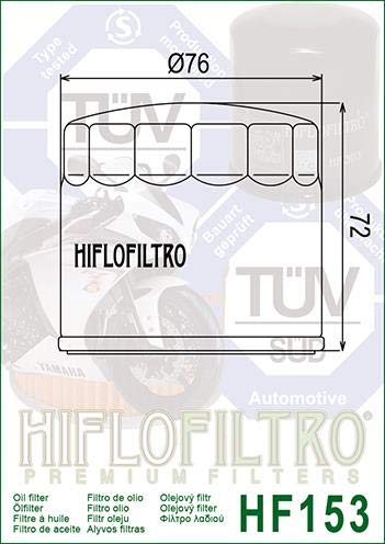 Ducati 800 Scrambler Urban Enduro 2015-2016 Oil Filter Genuine OE Quality HiFlo HF153