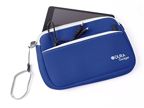 DURAGADGET Royal Blue Neoprene Sleeve With Front Zipped Pocket For Ployer Momo11 Tablet, Archos XS 80 8 Go + Clavier, Archos Arnova 8 G2 Dual Touch, Archos 80 G9 & Archos 10 80 xs Turbo G2 8-inch Tab (ARM Cortex A9 1.6GHz Processor, 1GB RAM, 8GB Flash, Wi-Fi, BT, Webcam, Android 4.1)