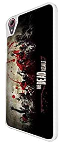 144 - Walking Dead Zombie Blood The Dead Assault Design For htc Desire 826 Fashion Trend CASE Back COVER Plastic & Thin Metal -Select your Case Color from the drop box under by ruishername