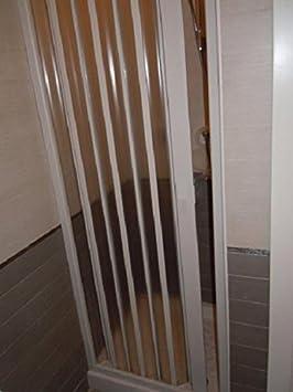 Mampara de Ducha frontal en PVC, una hoja, 70 cm: Amazon.es: Hogar