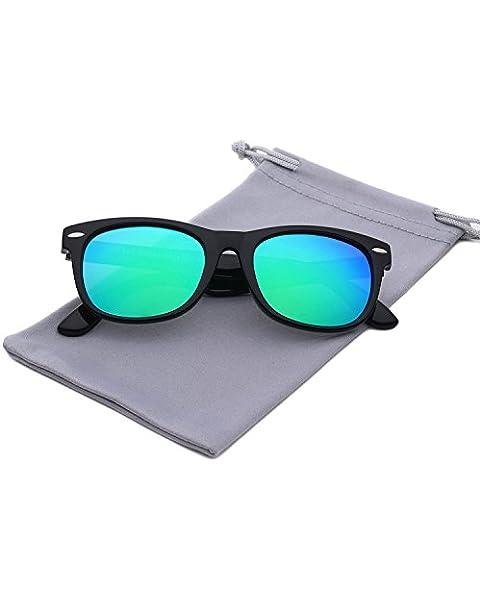 b2447a814fa YAMAZI Kids Polarized Sunglasses Sports Fashion For Boys And Girls Mirrored  Lens (Black