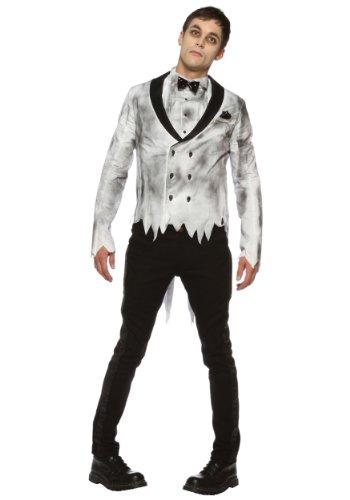 [Lip Service mens Zombie Groom Costume Small] (Dead Groom Costume)