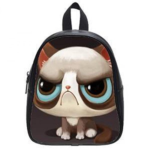 Diy Top Leather Loverly Young Grumpy Cat Cute Style Kindergarten Backpacks Children'S School Bags For Girls And Boy