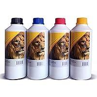 Generico (Kit 4 litros) Litro de Tinta Universal Premium Compatible L200 L210 L800 L4150 L396 L1110 L3110 L3150 L4150 L4160 / PSA COMPUTO Y PAPELERIA (Cyan/Magenta/Amarilla/Azul)