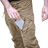 MAGCOMSEN Tactical Pants for Men Lightweight Hiking Pants Cargo Pants with Pockets BDU Field Pants Men Work Pants for Men Quick Dry Pants Khaki