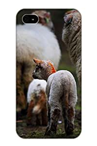 Exultantor Design High Quality Animal Sheep Cover Case With Ellent Style For Iphone 4/4s(nice Gift For Christmas)
