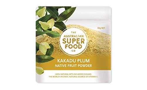 (Kakadu Plum Freeze Dried Powder - 100% Natural with No Added Sugar | Enriched with Vitamin C & Antioxidants by The Australian Superfood Co | 30 g)