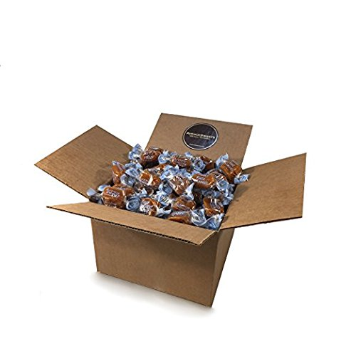 AvenueSweets - Handcrafted Dairy Free Vegan Individually Wrapped Soft Caramels - 2 lb Box - Sea Salt
