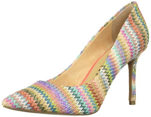 Katy Perry Women's The Sissy-Raffia Multi Pump Denim 8 Medium US