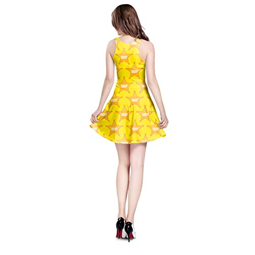 Queen of Cases - Robe - Patineuse - Sans Manche - Femme jaune Yellow One Size