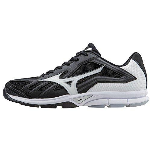 Mizuno Men's Players Trainer Baseball Training Shoe - Black & White (Men's 11) (Shoes Mizuno Training Baseball)