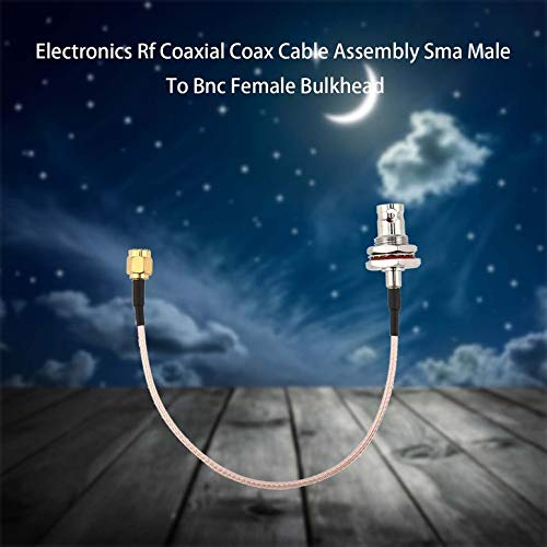 Lynn025Keats Electr/ónica coaxial RF Coaxial Cable Assembly SMA Macho a Hembra BNC pasante LT