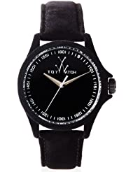 ToyWatch Womens PE01BK Sartorial Only Time Black Velvet Watch