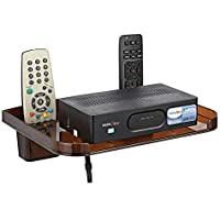 Drizzle Set Top Box Shelves Brown With Remote Holder/Tv Set Top Box Stand With Remote Holde/Wall Mount Wifi Stand/Mobile Charging Dock