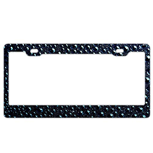 YEX Abstract Drops License Plate Frame Car License Plate Covers Auto Tag Holder 6