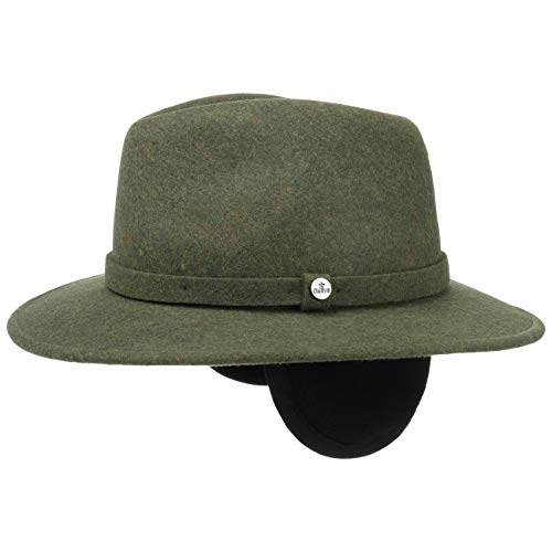 Lierys Wool Traveller Hat with Ear Flaps Men Olive 7 3 4 27a5398bb5ee