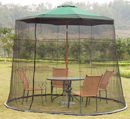 Incroyable LBINTL 9 Feet Mosquito Netting PVC Water Bag Patio Umbrella, Black