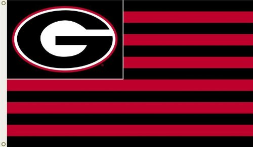 Bulldogs Clock Georgia (BSI NCAA Georgia Bulldogs 3-by-5 Foot G Stripes Flag With Grommets)