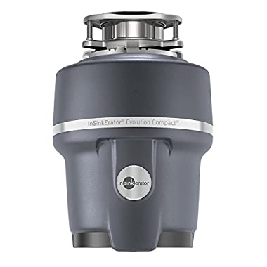 InSinkErator Garbage Disposal, Evolution Compact, 3/4 HP Continuous Feed