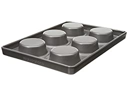 KitchenAid KBNSS06HM 6-Cavity Professional-Grade Nonstick Hamburger Pan, Set of 2
