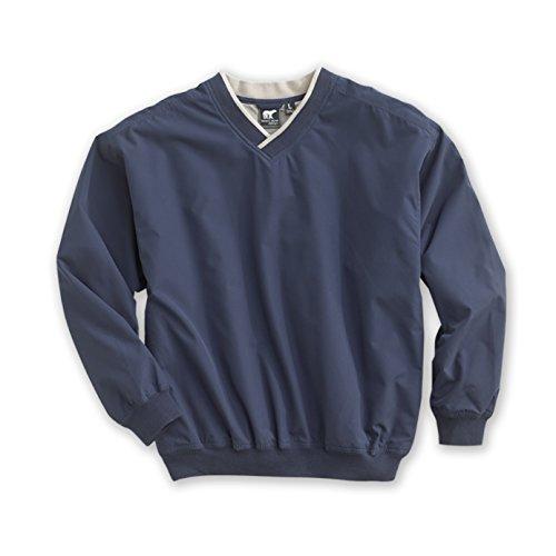 White Bear Clothing Co. Microfiber Windshirt (Style 5150) - 14 Sizes: XS-5XL, LT-4XT (2XL, Navy/Putty)
