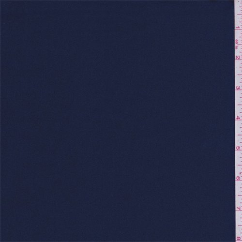 Wholesale Crepe Back Satin (Jewel Navy Crepe Back Satin, Fabric By the Yard)