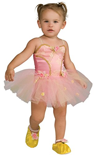 Child's Pink Rose Ballerina Dress Up Costume - -