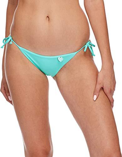 Mist Iris (Body Glove Women's Smoothies Iris Solid Tie Side Bikini Bottom Swimsuit, Smoothies Sea Mist, Large)