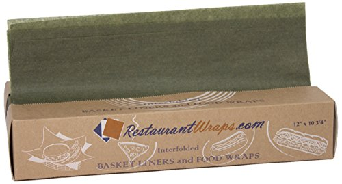 Interfolded Waxed Tissue, Basket Liner and Food Wrap, 12