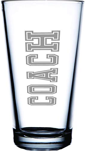 IE Laserware COACH! Permanently etched on this 16 oz. pint glass. The perfect gift for that perfect coach! Show your appreciation, give them something they can use and show off.