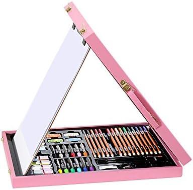 Estuche Colores El Juego de Dibujo de Arte en Madera Color es para niños en Cajas de Madera, 106 Pinturas, Base estéreo, Mano portátil, niño/niña, Verde/Rosa. (Color : Pink): Amazon.es: Hogar