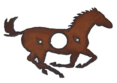 Rustic Metal Running Horse Door Bell Cover