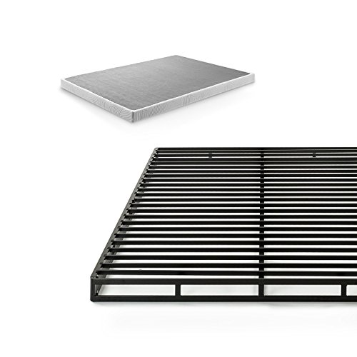 Zinus Victor 4 Inch Low Profile Quick Lock Smart Box Spring / Mattress Foundation / Strong Steel Structure / Easy Assembly, Full