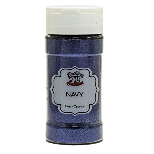 Backfist Customs Glitter Navy Blue Premium Polyester Glitter Multi Purpose Dust Powder 4oz for use with tumblers Slime Arts & Crafts Wine Glass Decoration Weddings Cards