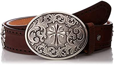 ARIAT Women's Cross Concho Perforated Edge Buckle Belt