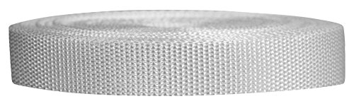 Strapworks Heavyweight Polypropylene Webbing - Heavy Duty Poly Strapping for Outdoor DIY Gear Repair, 3/4 Inch x 10 Yards, White ()