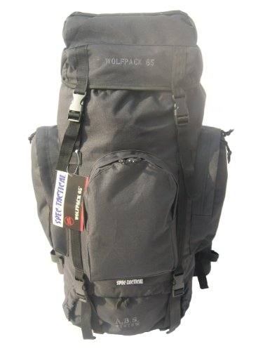 SpecTactical Wolfpack 65L – Black, Outdoor Stuffs